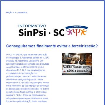Informativo online 03 - SinPsi/SC