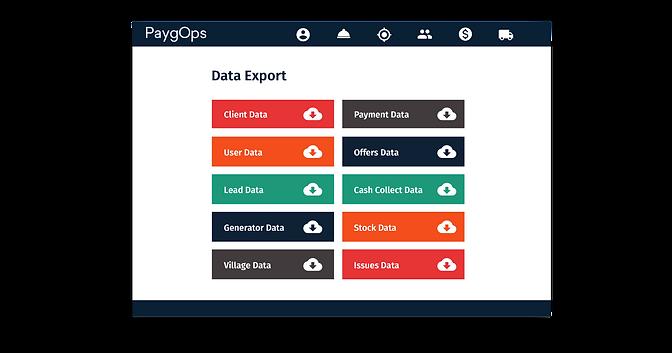 Data Export PaygOps