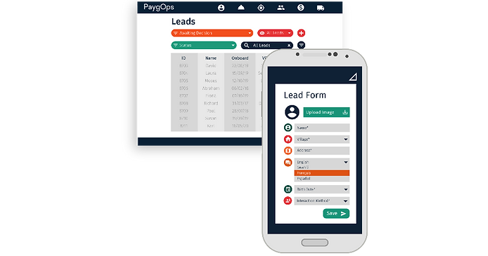 Sales Lead Form PaygOps