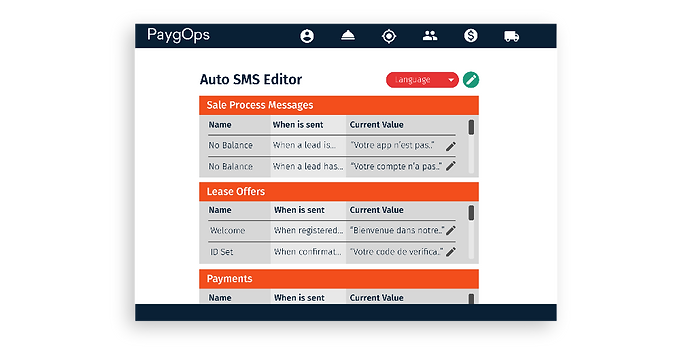 Auto SMS Editor PaygOps