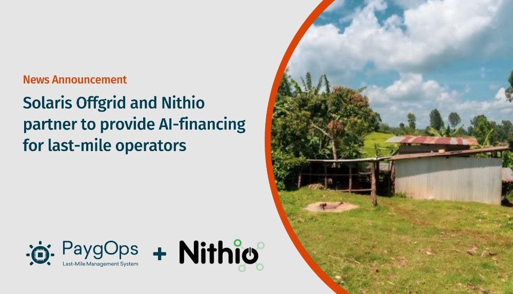 Solaris Offgrid and Nithio Partner to provide AI Financing for last-mile operators