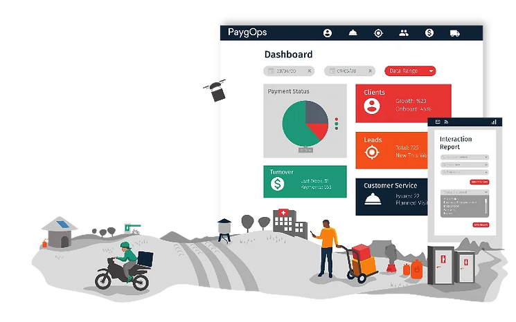 PaygOps Dashboard hompage