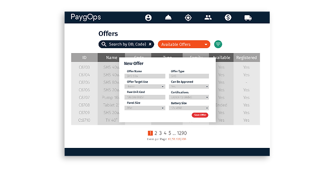 PaygOps Offer Editor