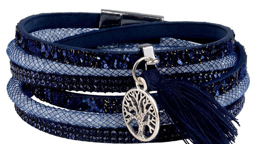Multilayer Leather Tassel Bracelet
