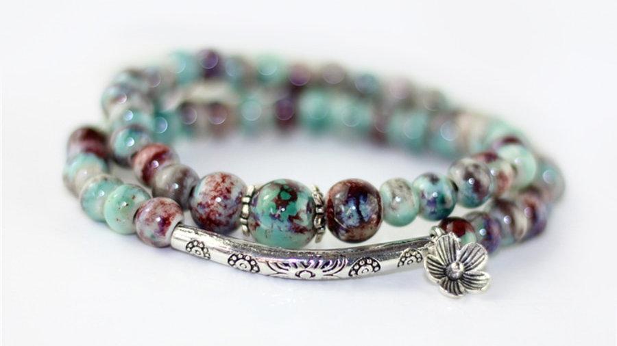 Double Layer Stone Bracelet