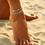 Thumbnail: Multi Row Crystal Chain Anklet Ankle Bracelet