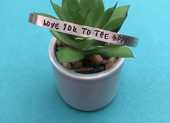 Love you to the Moon Bangle/Cuff Bracelet