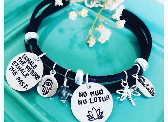 No Mud No Lotus three-row Bracelet