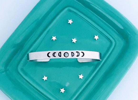 Moon Child Bangle/Cuff Bracelet.
