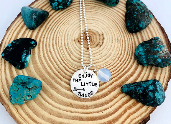 Enjoy the Little things Necklace.