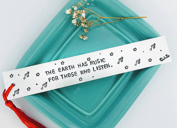 """""""The Earth has music.."""" Bookmark."""
