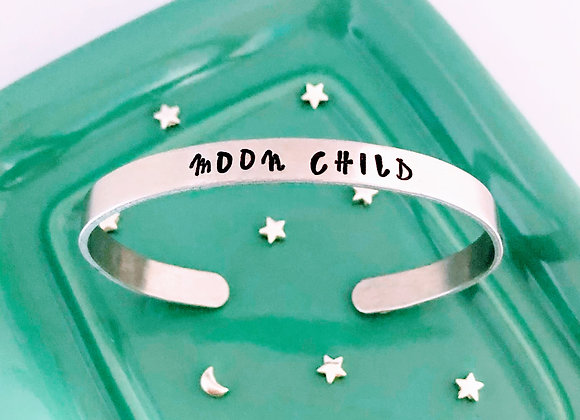 Aluminium Moon Child Cuff/Bangle Bracelet