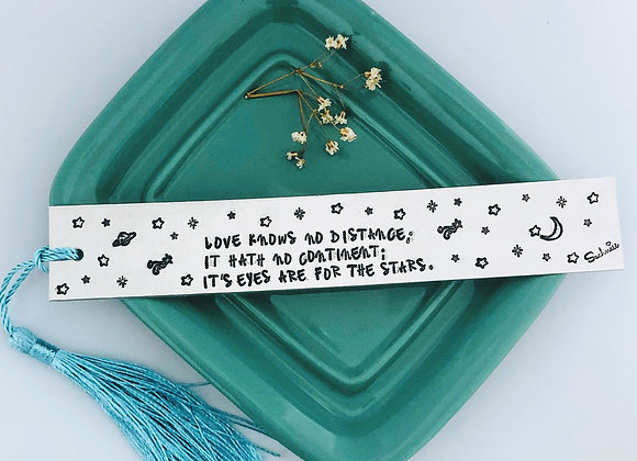 """Love knows no distance.."" Bookmark."