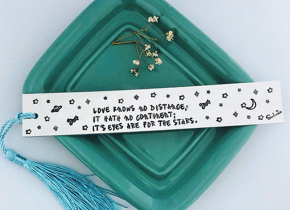 """Love knows no distance.."" Bookmark."