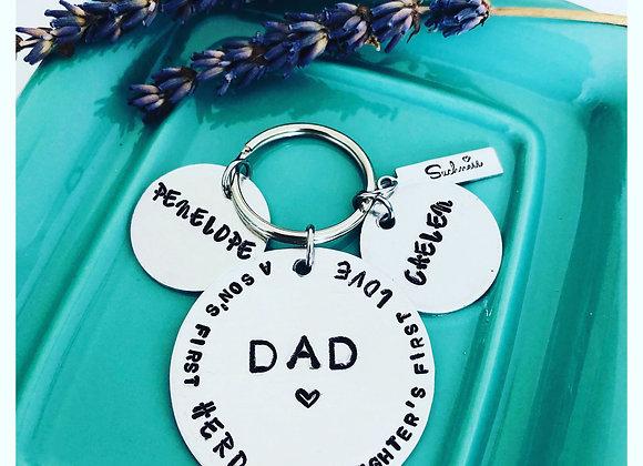 DAD.. Handstamped Keyring