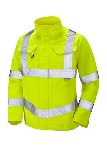 YEOFORD ISO 20471 Class 3 Drivers Jacket. Yellow. PPE Stock Shop