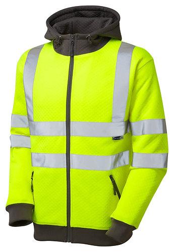 SAUNTON ISO 20471 Class 3 Hooded Sweatshirt. Yellow. PPE Stock Shop