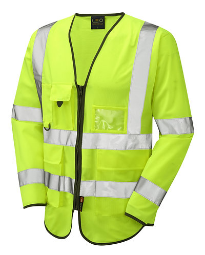 WRAFTON ISO 20471 Class 3 Superior Sleeved Waistcoat. Yellow. PPE Stock Shop