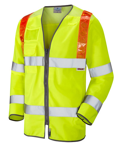 BARBROOK ISO 20471 Class 3 Orange Brace Sleeved Waistcoat