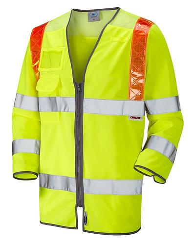 TADDIPORT ISO 20471 Class 3 Orange Brace 3/4 Sleeve Waistcoat