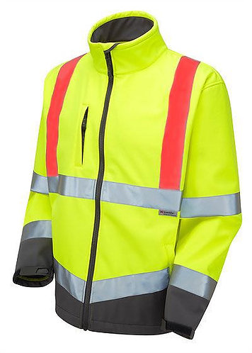 LEO WORKWEAR - BUCKLAND YELLOW WITH ORANGE/RED BRACING - PPE STOCK SHOP