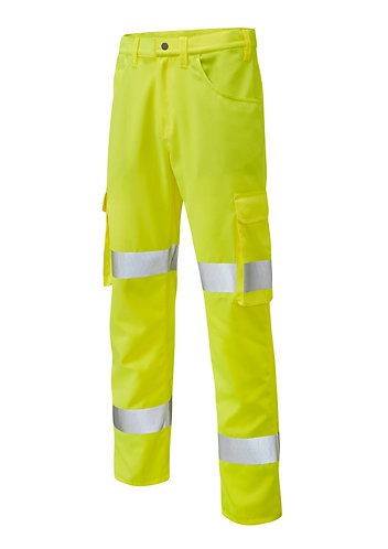 YELLAND ISO 20471 Class 1 Lightweight Poly/Cotton Cargo Trouser. Yellow. PPE Stock Shop