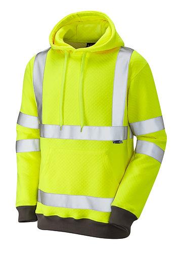 GOODLEIGH ISO 20471 Class 3 Hooded Sweatshirt. Yellow. PPE Stock Shop