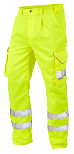 BIDEFORD ISO 20471 Class 1 Poly/Cotton Cargo Trouser. Yellow. PPE Stock Shop