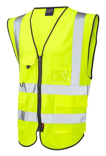 LYNTON ISO 20471 Class 2 Superior Waistcoat. Yellow. PPE Stock Shop