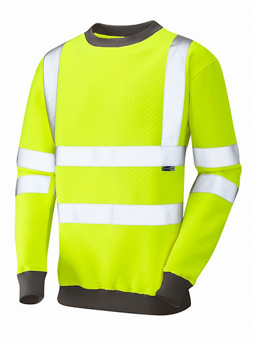 WINKLEIGH ISO 20471 Class 3 Crew Neck Sweatshirt. Yellow. PPE Stock Shop