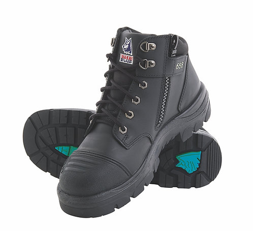 Steel Blue Parkes Zip with Steel Midsole and Bump Cap 392658. PPE Stock Shop.