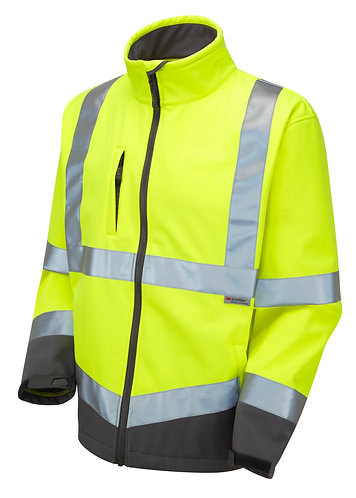 BUCKLAND ISO 20471 Class 3 Softshell Jacket. Yellow. PPE Stock Shop