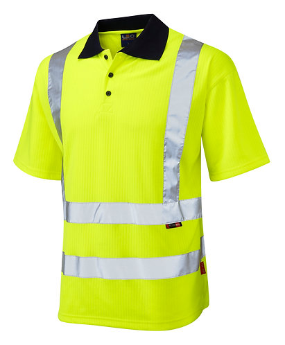 CROYDE ISO 20471 Class 2 Comfort Poly/Cotton Polo Shirt. Yellow. PPE Stock Shop