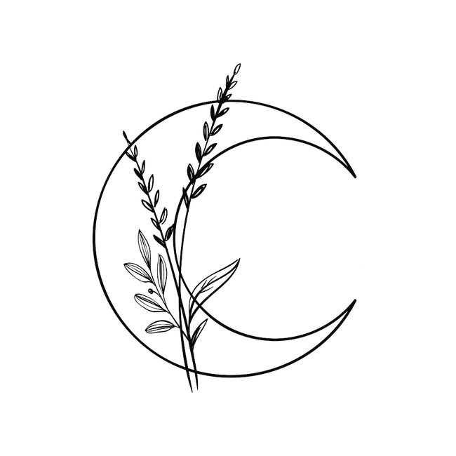 Moon and flowers_Clear background_bnw.png