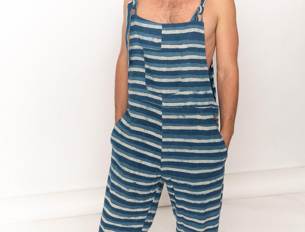 Indigo Striped Jumpsuit
