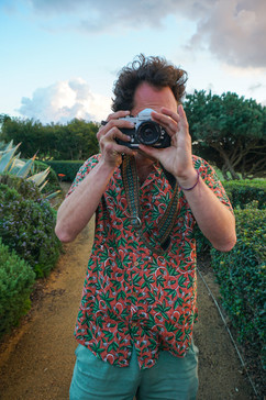 Shooting on film with a block printed rare byrds shirt