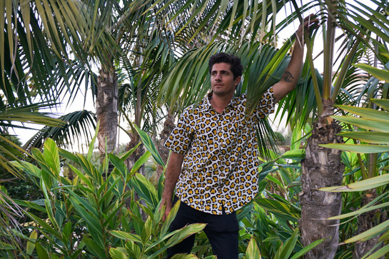 Exploring and blending in the jungles with a leopard block printed shirt