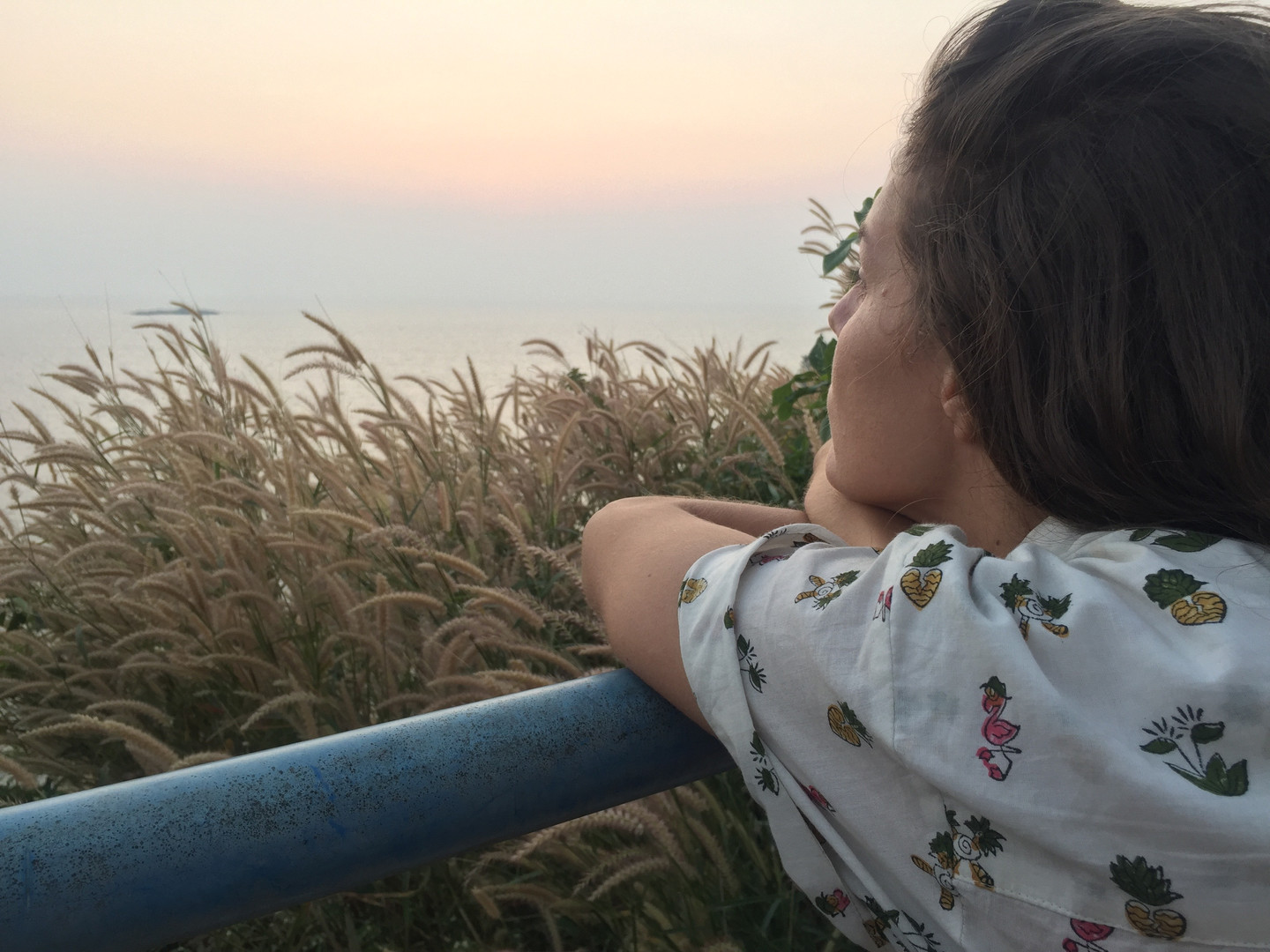gazing at the sunset in southern india with a tropicool medley block print