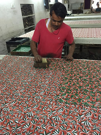 block printing jaipur india fabric
