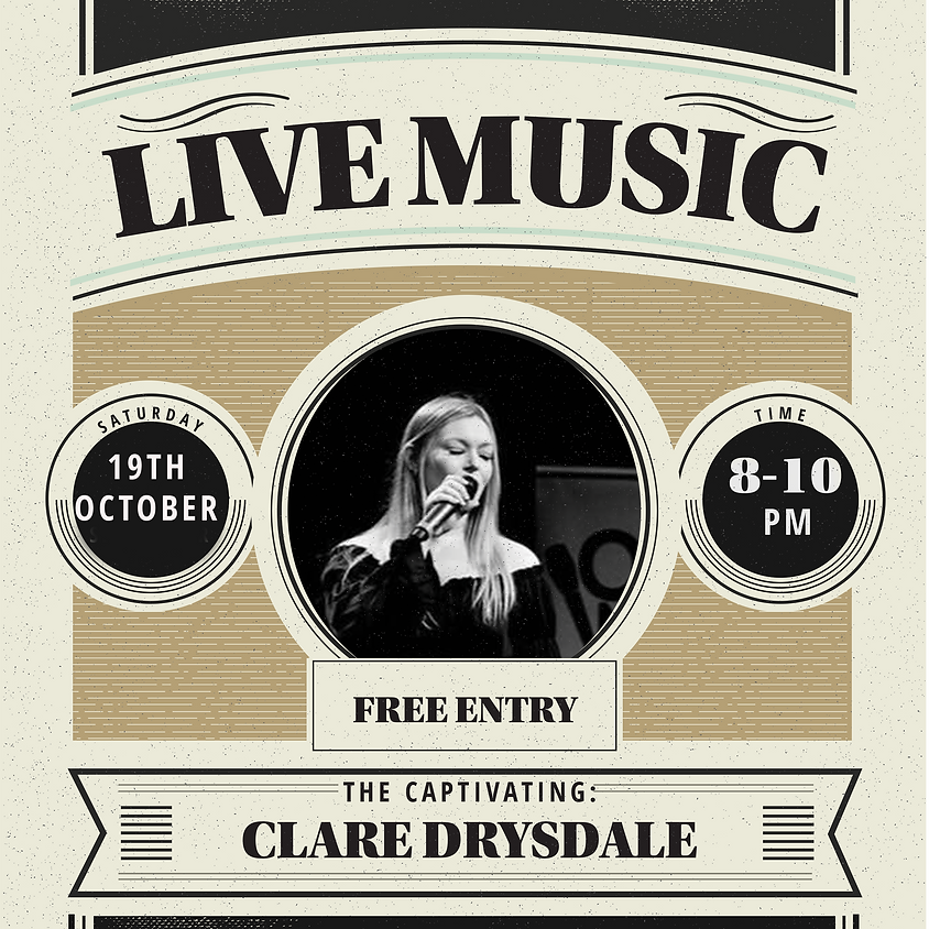 LIVE MUSIC: Clare Drysdale