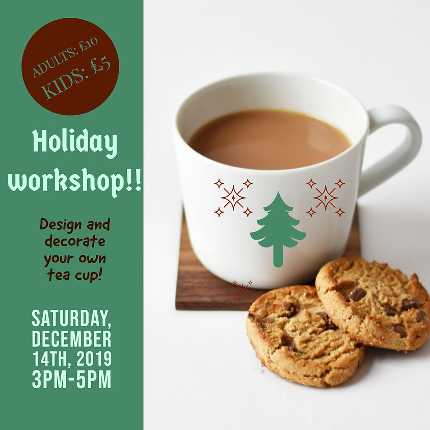 Christmas Workshop: Decorate your own Teacup!!