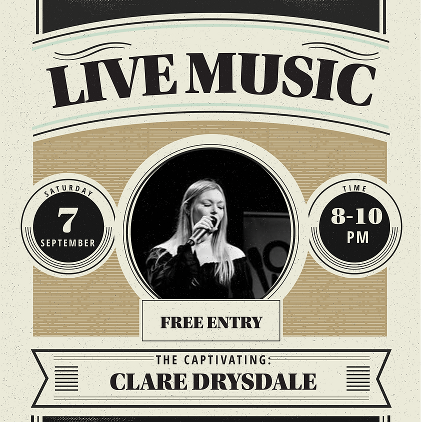 LIVE MUSIC from CLARE DRYSDALE