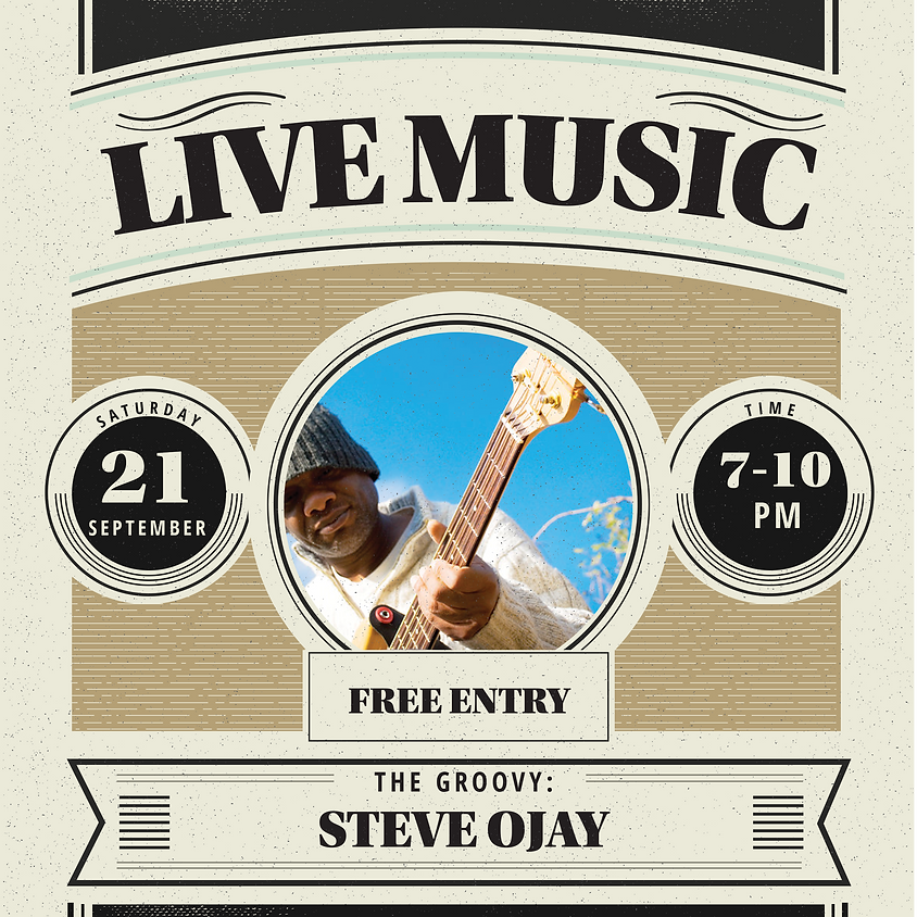 LIVE MUSIC : Steve Ojay