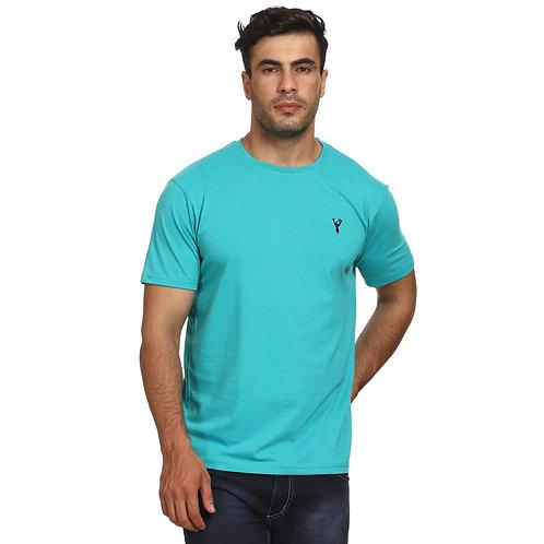 Sea Green Round Neck T-Shirt