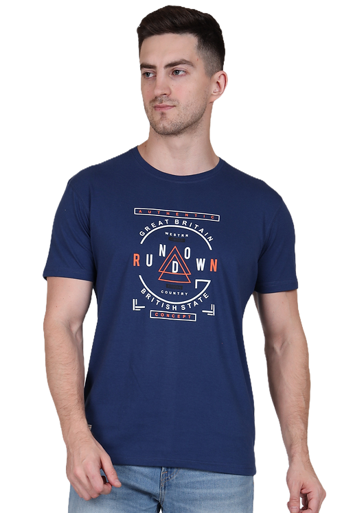 Men's Cotton Denim Graphic T-Shirt