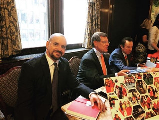Rocky Wirtz, Tony Esposito, and Yours Truly Signing Copies of The Breakway