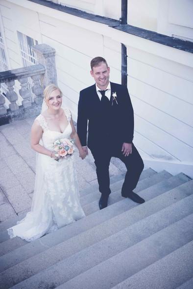 Lisa mit ihrem Bräutigam