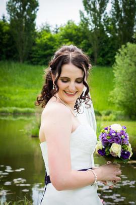 Stefanie hat eine Naturwelle, die ich mit dem Lockenstab schön definiert habe, sodass sie langanhaltend Schwung in den Haare hatte  Foto: privat