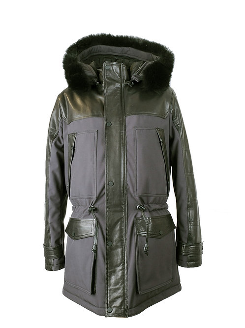 PARKA ANTRAZIT LEATHER