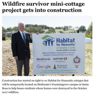 Sonoma Wildfire Cottages construction be